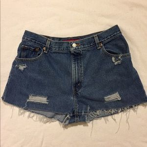 Vintage Levi's 550 Distressed High Waisted Shorts